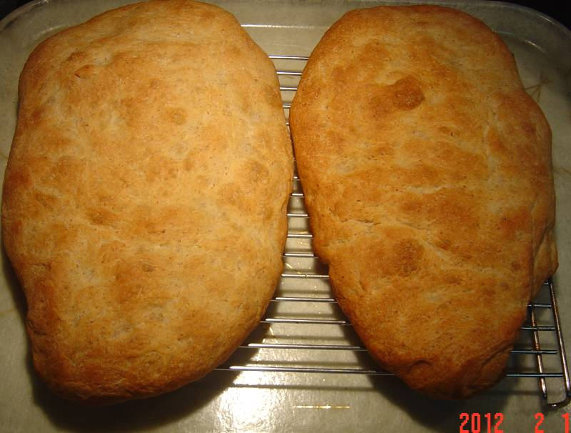 Ciabatta from bread machine 2-14-2012